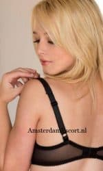 Kenze in Black Bra Pulling Bra Straps