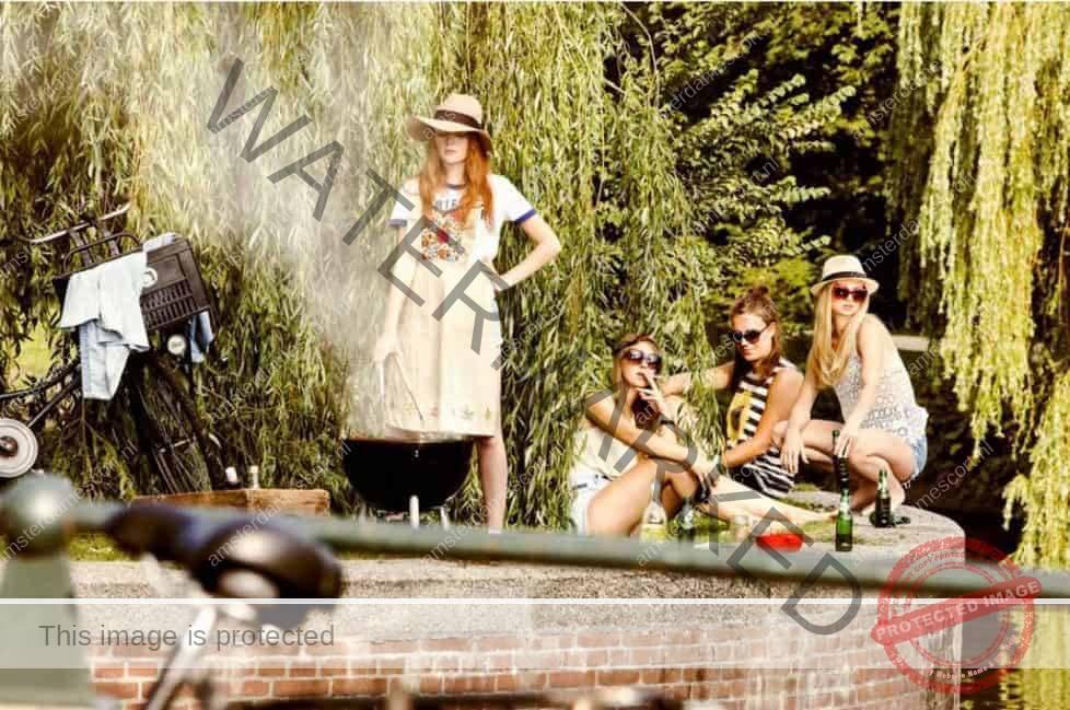 Gallery of Photos Of Amsterdam Girls Along Waterway.