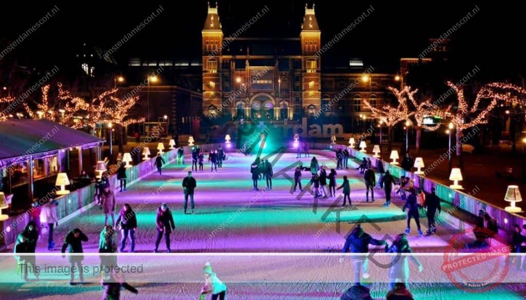 Late Night Ice Skating in Amsterdam