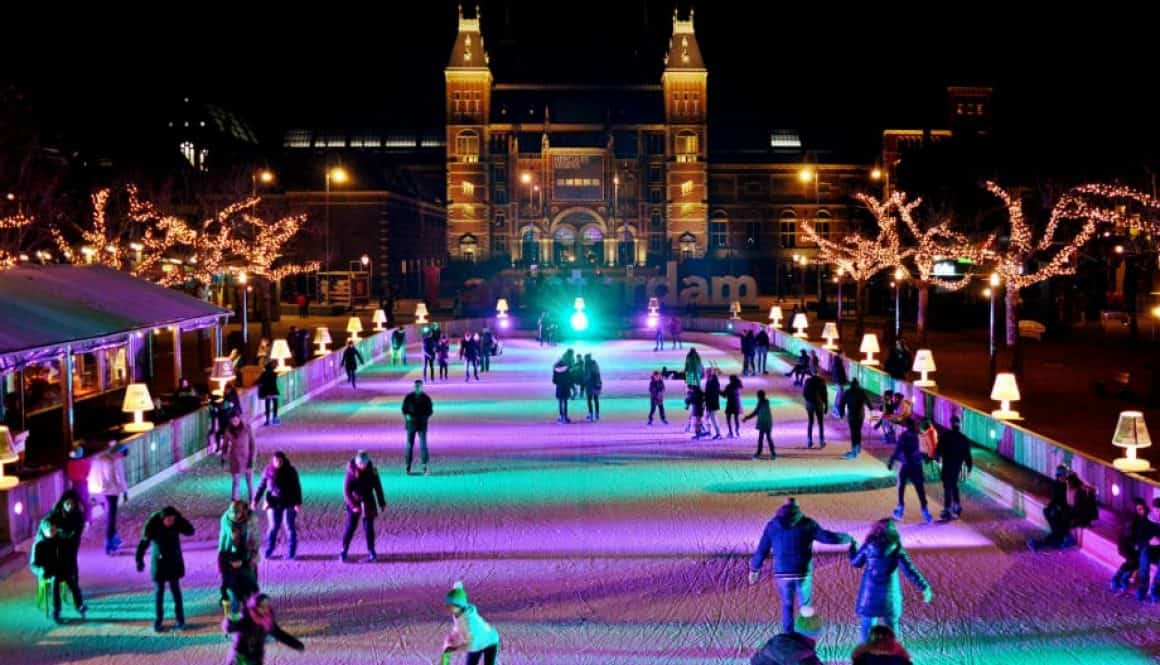 Late Night Ice Skating in Amsterdam
